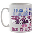 Personalised Favourites Ceramic Mug