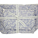 Cotton Lavender Oilcloth Wash & Make-Up Bags