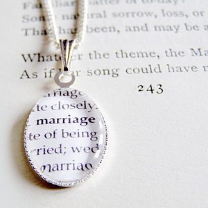 Dictionary Definition Charm Necklace - necklaces & pendants