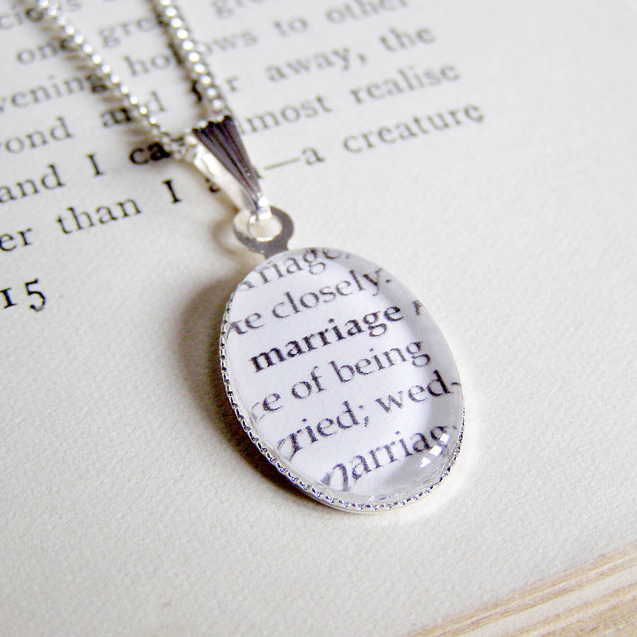 dictionary definition charm necklace by the mymble s