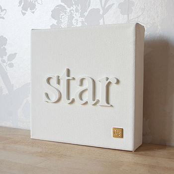 Personalised 'Little Word' Canvas