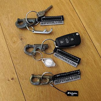 Recycled Sail Piston Hank Key Ring