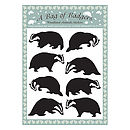 A Bag Of Badgers Wall Stickers
