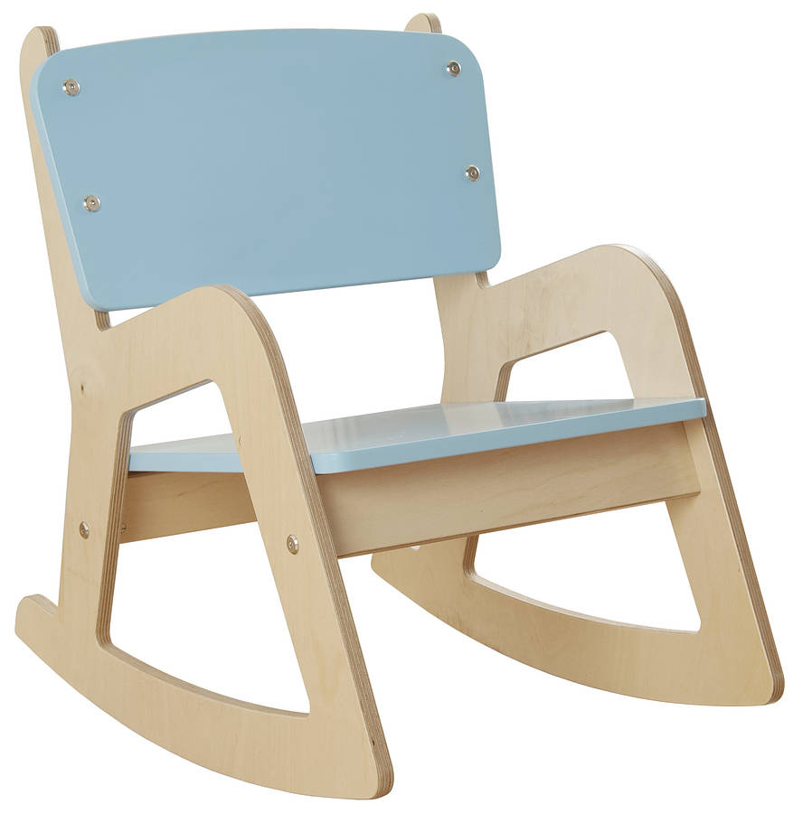 Kids Wooden Rocking Chairs Concept