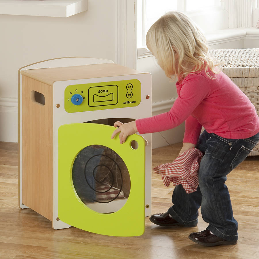 children s contemporary wooden washing machine by millhouse