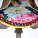 Handmade Fabric Lampshade: Patchwork Blues