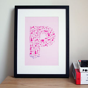 Personalised Musical Initial Print - home accessories