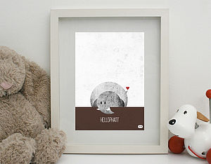 'Hellophant' Print Unframed - nursery pictures & prints