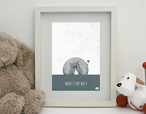 'Rhino I Love You' Print Unframed - posters & prints