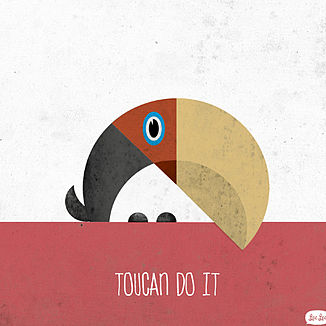'Toucan Do It' Print Unframed