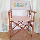 Personalised Hardwood Director's Chair