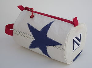Star Sailcloth Wash Bag - wash & toiletry bags