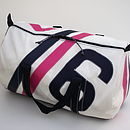 Sailcloth Kit Bag pink and navy - large