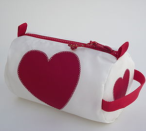 Heart Sailcloth Wash Bag
