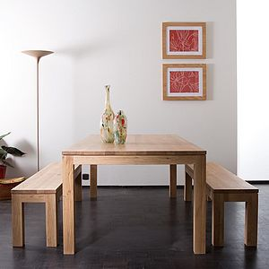 Contemporary Solid Oak Dining Table - furniture
