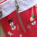 Snowman & Snow woman Christmas stockings