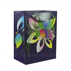 Sophisticated Floral Gift Bags - ribbon & wrap