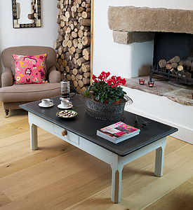 Large Slate Top Coffee Table