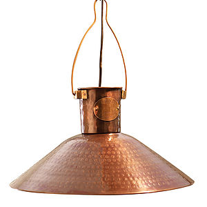 Copper Pendant Light - bedroom