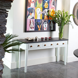 Painted Slate Top Console Table