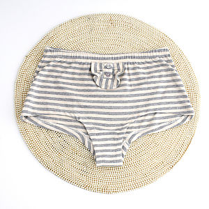 Organic Cotton, French, Stripe, Boy Shorts