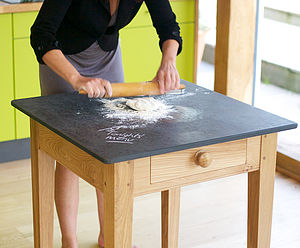 Pine Slate Top Pastry Table - side tables