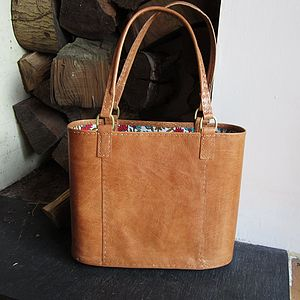 Leather Tan Tote