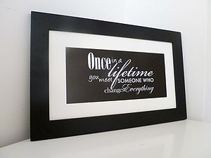 'Once in a Lifetime' Print - art & pictures