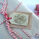 Handmade Bird And Branch Ceramic Gift Tag