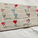 Handmade Linen And Liberty Print Bookmark