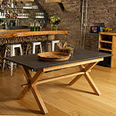 Oak Refectory Style Slate Top Table