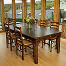 Oak Or Antique Style Slate Top Table