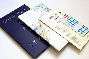 Wine Map Of Italy - Bookshelf Edition - wine connoisseur