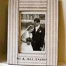 Personalised Mr & Mrs Frame