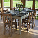 Medium Painted Slate Top Farmhouse Table