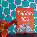Pack Of Ten Dinosaur Thank You Cards