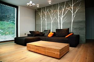 Wall Stickers: Winter Trees White - wall stickers