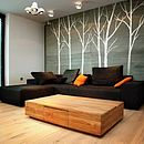 Wall Stickers: Winter Trees White
