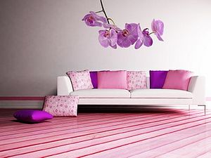Wall Stickers: Orchid - living room