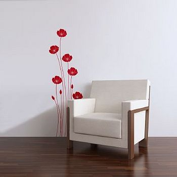 Wall Stickers: Poppies Red