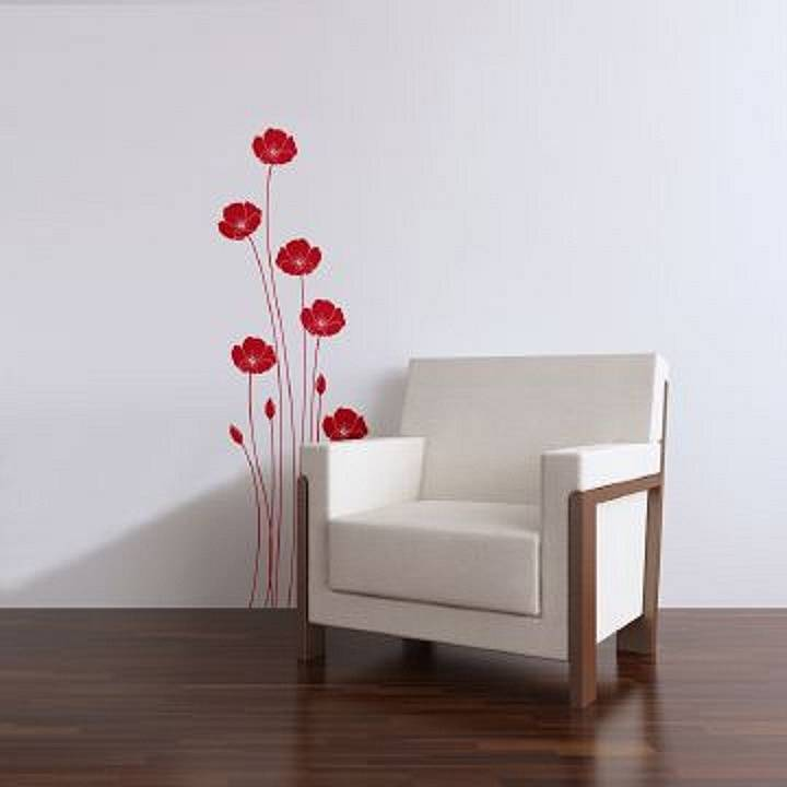Wall Stickers Poppies Red By Zazous Notonthehighstreet Com
