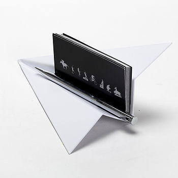 Paper Plane Pen Or Business Card Holder
