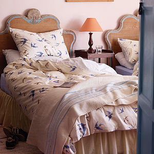 Blue Birds Luxury Duvet Set - bedroom