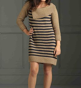 Bigbury Stripe Jumper Dress - dresses
