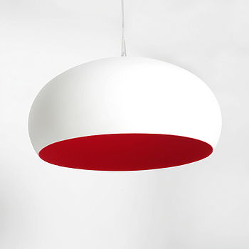 Flocked White Powder Coat Dome in cardinal red