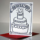 Hand Drawn Personalised Wedding Card