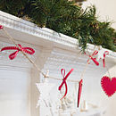 Shaker Heart And Star Garland