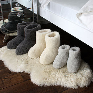 Adult's Merino Sheep Wool Booties - slippers