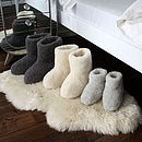 Merino Sheep Wool Booties Adults