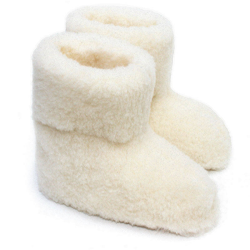 adult's merino sheep wool booties by the gorgeous company ...